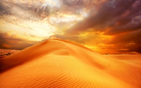 Desert - sand, nature, desert, cloud
