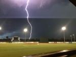 lightning at ball field