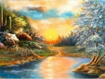paisaje colorido