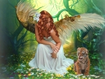 Angel and a Tiger Cub