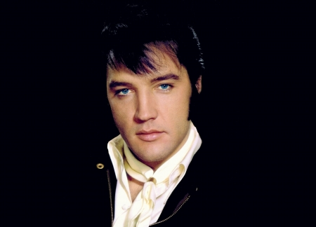 Elvis Presley - king, male, Elvis Presley, rock n roll, black, man, singer, actor