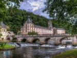 gorgeous bridge at brantome dordogne castle france hdr