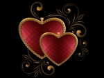Hearts with Gold
