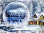bubble in the snow