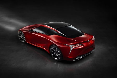 lexus lc 500 - red, lexus, coupe, sports