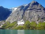 rocky peak to the lake