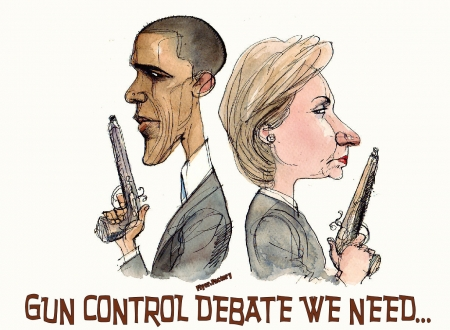 Settle It.. - freedom, obama, hillary, jerks, guns, NRA, pistols, presidents, political