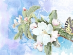 Spring Blossoms Watercolor