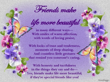 BEAUTIFUL FRIENDS - COMMENT, CREATION, FRIENDS, BEAUTIFUL