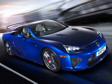 lexus lfa - track, lexus, coupe, sports