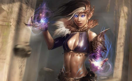 Fantasy Girl - art, magic, fantasy, woman