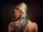 Blond Girl with Tattoo