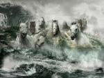 horses were sailing