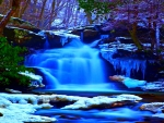 *Winter Waterfall*