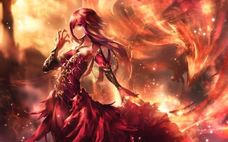 Phoenix Girl Other Anime Background Wallpapers On Desktop Nexus