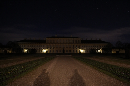 Orion above Castle Schleissheim - castle, starts, orion, night