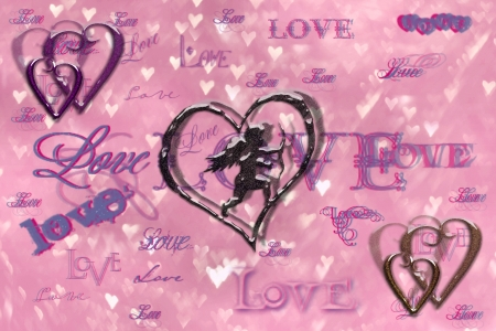 love - valentines, harts, cupid, love