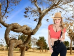 Cowgirl Belle Claire and Unique Tree
