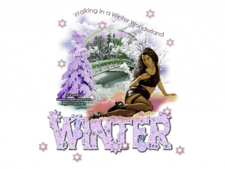♥WINTER WONDERLAND♥ - WOMAN, NATURE, SEXY, WINTER