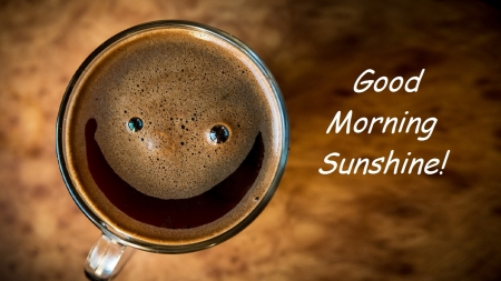 Good Morning Sunshine! - morning, smile, coffee, java
