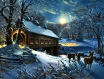 Moonlit Covered Bridge F