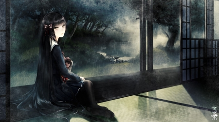Rainy Day Other Anime Background Wallpapers On Desktop Nexus