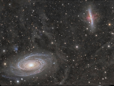 Galaxy Wars M81 versus M82 - stars, fun, cool, galaxy, space