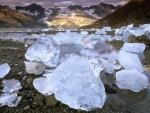 Ice Boulders Near Glacier