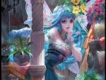 Blue Cute Fairy