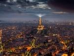 paris night cityscape