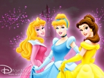 Aurora, Cinderella and Belle