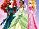 Merida, Tiana and Aurora