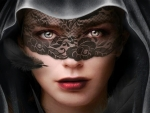 Girl in Lace Mask