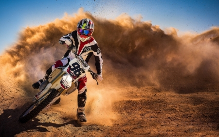 motocross racing - dirt, motocross, rider, motorcycle