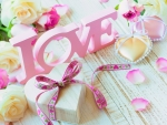 Gift with pink love