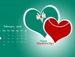 heart couple valentines day calendar