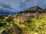 kiyomizu dera temple japan at night hdr