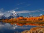 autumn colors in beautiful landscape