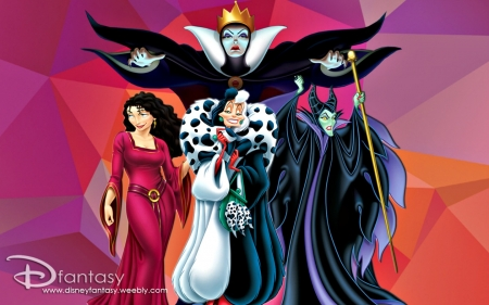 Disney Villains Fantasy Abstract Background Wallpapers On Desktop Nexus Image 2078228