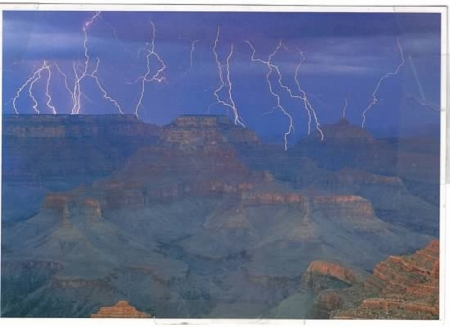 grand canyon - grand canyon, united states, arizona, canyon, canyons, nature, lightning