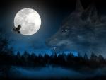 Dark Wolf and Raven