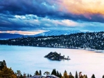 Lake Tahoe in Late Winter