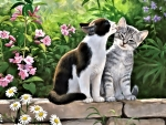 Cats in the Garden