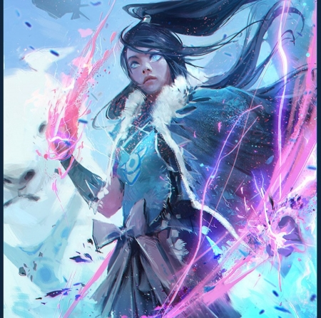 Korra fantasy abstract background wallpapers on - Abstract anime girl ...