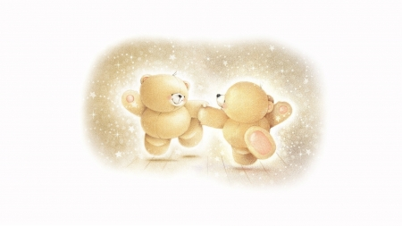 Forever friends - cute, toy, forever friends, white, teddy bear, couple, card