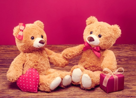 Valentine Teddy Bears Other Abstract Background Wallpapers On