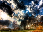 wonderful suburban sky landscape hdr