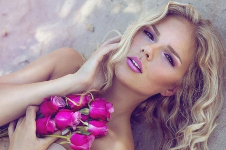 Nice face - face, beautiful, rose, women