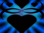 Heart Tribal Blue