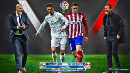 REAL MADRID - ATLETICO MADRID 2016 - cr7, REAL MADRID, zidane, Fernando Torres wallpaper, cristiano ronaldo wallpaper, ATLETICO MADRID wallpaper, Fernando Torres, laliga, REAL MADRID wallpaper, ronaldo, ATLETICO MADRID